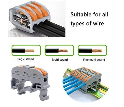 100Pcs Mini Fast Wire Connectors Universal Cable Wire Connector Push-In Terminal