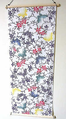 Japanese Cotton Fabric TENUGUI Cloth_Clematis and Butterfly,#t005_930