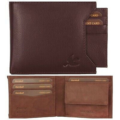 HORNBULL Brown /Washed Brown Rigohill Leather Men's RFID Blocking Leather Wallet