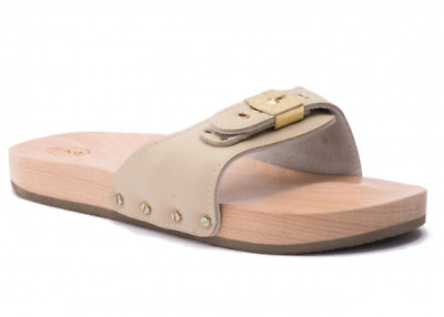 Scholl Pescura Sporty Flat Women's Clogs. Color Sand. All sizes.