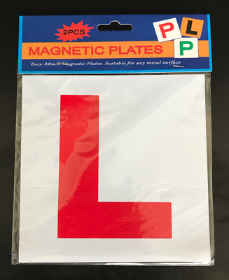 2 x PIECE MAGNETIC L PLATE CAR LEARNER SIGN STICKERS ***Multi-Buy Discount***