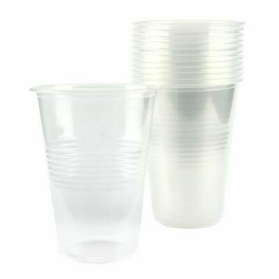 1000 Disposable Plastic Cups Clear Drinking Water Cup Party cups 200 ml