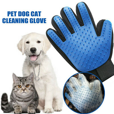 Pet Magic Gloves Dog Cat Cleaning Brush Massager Hair Removal Grooming Groomer