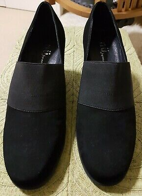 Black suede leather shoes 'Nu by Neo'. Size 41