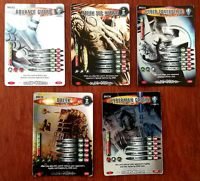 Doctor Who Battles In Time 5 x Trading Cards DCV12 – DCV16 Cyber Controller etc.