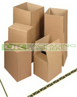 "5 SMALL 8 x 6 x 4"" CARDBOARD PACKING MAILING BOXES SINGLE WALL POSTAL - NEW"