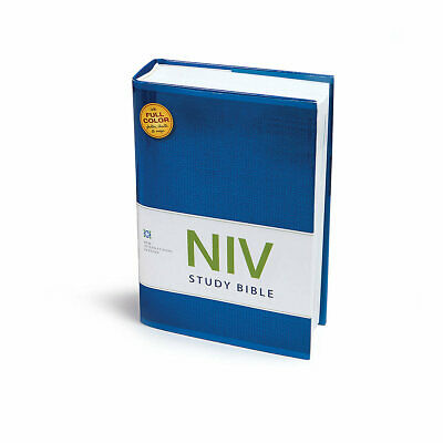 NIV STUDY BIBLE, Hardcover, Red Letter Edition - Free Shipping USA !!!