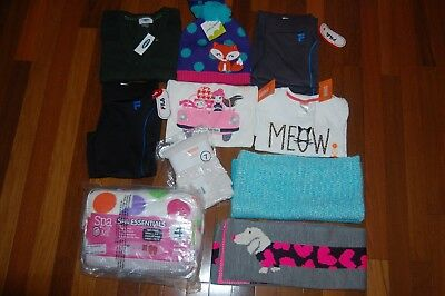 NWT Girls 7 8 Fall Winter 14 Piece Lot GYMBOREE OLD NAVY FILA CRAZY 8 GAP