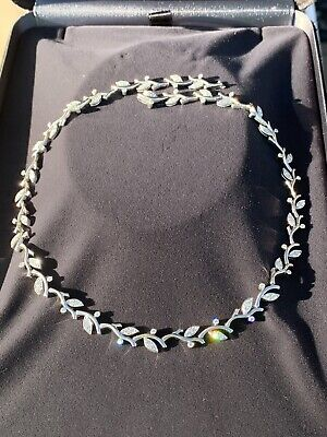 5581f3ffa Tiffany & Co PT950 Platinum Garland Vine Olive Diamond Necklace 2.25 TCW  $25000