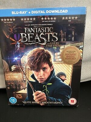 FANTASTIC BEASTS and where to find them  BLU RAY + DIGITAL MINT £5.99