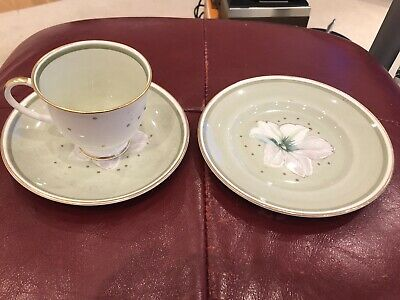 Susie Cooper Clematis Cup & Saucer & Plate