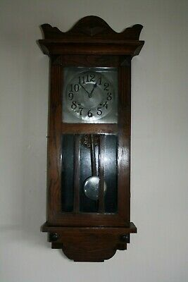 Vintage Art Deco 1920s American Wall Clock by Wm L. Gilbert, Cleaned & Serviced
