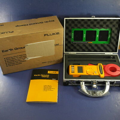 New Fluke 1630 Earth Ground Clamp, Hard Case, Original Box