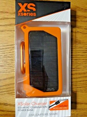 XSories XSolar, Solar Power Bank Charger, Rechargeable 3000mAh USB Port, NEW!