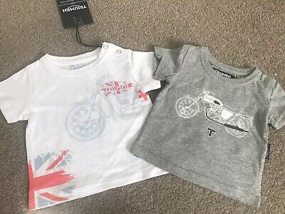 Bnwt Triumph Motorcycle 2 Baby Kids T-Shirt Size 3/6 Months
