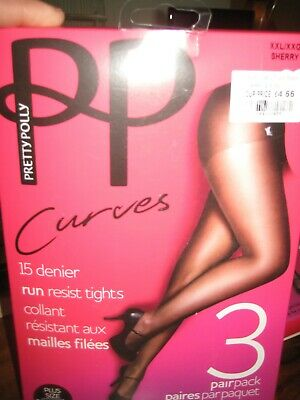 2416707bc16 PRETTY POLLY 3X Pairs Naturals TIGHTS 8 Denier Sandal Toe BLACK ...