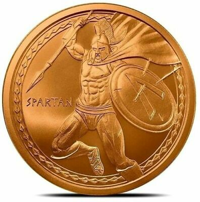 Spartan Warrior ~ 2019 First in the Series ~ 1oz 999 Solid Copper Round Art/Coin