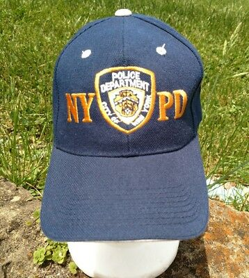 1a5661152 NYPD NEW YORK City Police Department Navy Blue Baseball Hat Cap ...