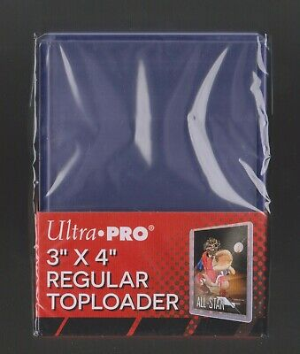 SEALED PACK OF 25 ULTRA PRO 3x4 REGULAR CLEAR RIGID TOP LOADERS - FREE SHIPPING