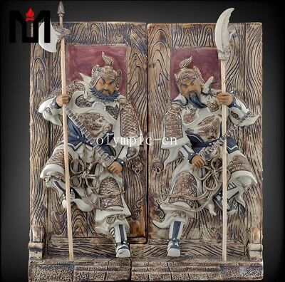 14'' chinese ceramic porcelain Sculpture home fengshui the God of Door statue