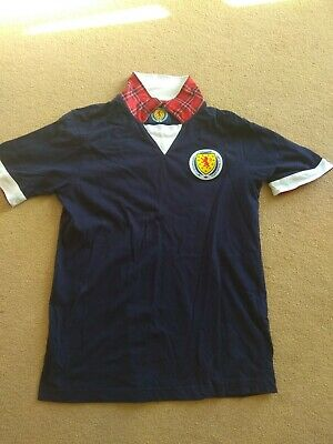 Scotland Supporters Club Football Shirt Smart Collectable Tartan Army medium