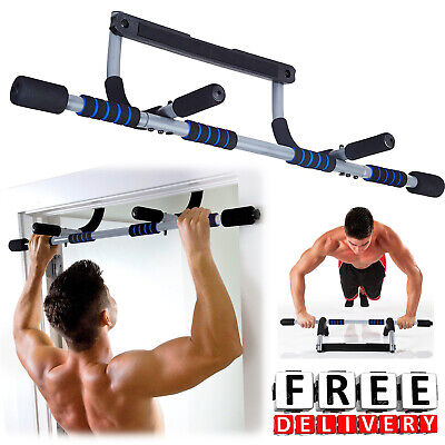 Doorway Pull Up Bar Fitness Home Gym Exercise Multi Steel Chin Up