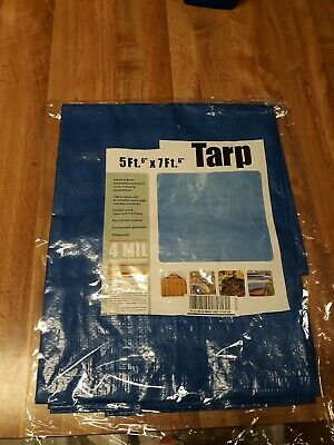 35926df1656fa2 HFT WEATHER RESISTANT Tarp 5 ft. 6 in. x 7 ft. 6 in. Silver Heavy ...