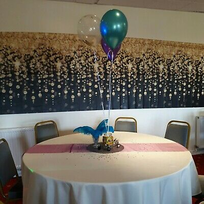 11x 2meters of organza table runners/ chair decorations purple