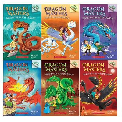 Scholastic Branches DRAGON MASTERS Childrens Series by Tracey West Book Set 1-6