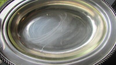 POOLE SILVER CO 1892 Silverplate glass insert Serving Dish EPCA Vintage