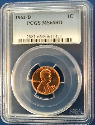 1962-D 1C RD Lincoln Memorial PCGS Gem Uncirculated MS66RD