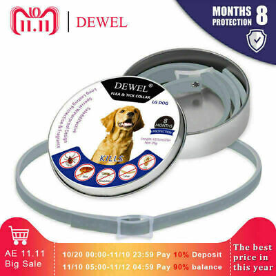 NEW DEWEL Flea and Tick Collar For Small Dog under 8kg (18 lbs) and Cats seresto