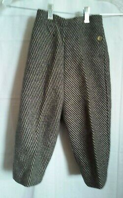 Vintage Wool Kids Youth Pants Lined Antique (original tags still on)