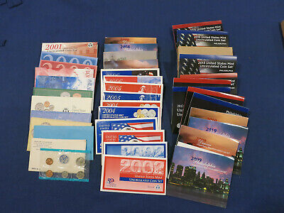 24 US Mint Uncirculated coin set Lot dates from 1969 to 1993, run from 1999-2015