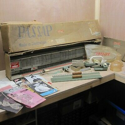 Passap M201 Automatic Knitting Machine Vintage w Box Manual Free UK P+P READ