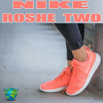 the latest e3791 7ebc5 Nike Women s SZ 9.5 Roshe 2 Two Running Shoe Atomic Pink Sail Turf Orange  844931