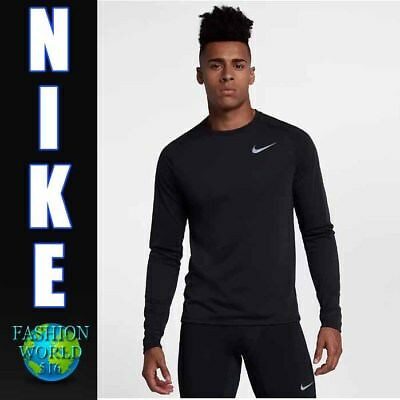 15c89ce1 Nike Men's Size Large Breathe Tailwind Long Sleeve Running Top 921813-010  Black