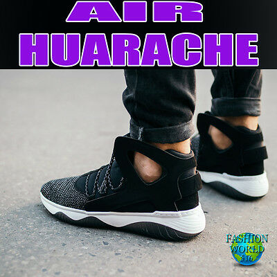 58bb5c2fc5ce NIKE AIR FLIGHT Huarache Ultra N7 Men s Shoes - Size 11.5 White BLK ...