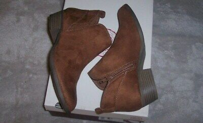 59ef7f7c7dd NEW WOMENS PEAR SO Chestnut Faux Suede/Leather Ankle Boots Size 8 ...