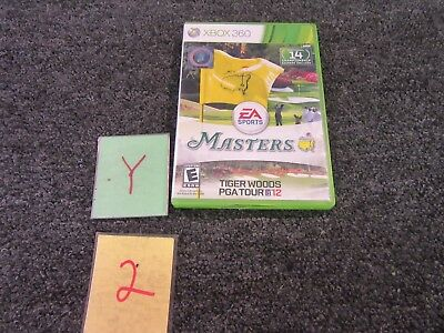 Microsoft Xbox 360 Tiger Woods Pga Tour 12 The Masters Golf Sports Video Game