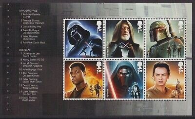 z3104) Great Britai. 2015. MNH. SG 3758b. Star Wars Pane from DY15