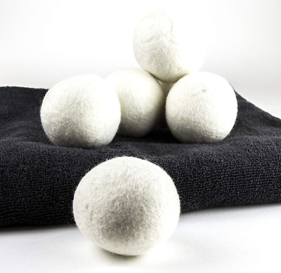 New Wool Dryer Balls 6-Pack XL Premium Reusable Natural Fabric Softener Eco Safe