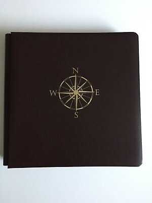 Creative Memories Travel Photo Scrapbooking Album 12x12 Chocolate Brown Compass