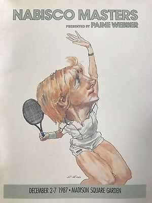 ea4c29c1ab6cc VINTAGE TENNIS PROGRAM from NABISCO MASTERS MADISON SQUARE GARDEN 1987