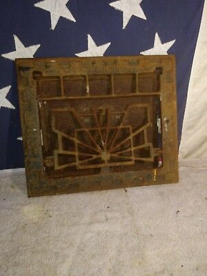 Vintage Wall Heat Register Industrial Cast Home Renovation Art Deco