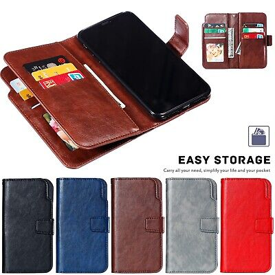 For iPhone XS Max XR X Magnetic Leather Wallet Flip Card Holder Stand Case Cover
