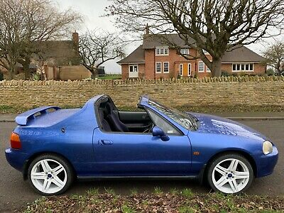 Blue Honda CRX 1993 Manual with Transtop Roof