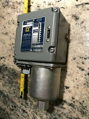 SQUARE D CLASS 9012-ACW23 PRESSURE SWITCH, Bellows 1 to 10 # psi - guaranteed