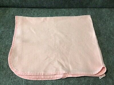 Baby Morgan Solid Color Pink 28x 34 Soft Waffle Baby Blanket