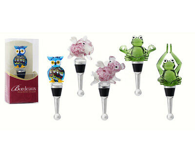 BLOWN GLASS SEA CREATURES BOTTLE STOPPER -Novelty SET OF 6 - BS907